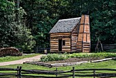 Slave cabin on the George Washington estate, Mt Vernon, Virginia, USA.