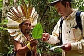 Shaman and naturopath. Alto Jurua. Croa, Brazil.