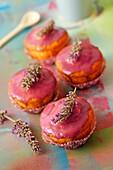 Lavender cupcakes.