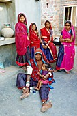 India, Rajasthan, Meda village around Jodhpur, Rabari ethnic group.