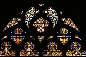 stained glass windows in the 'big church' in dordrecht.