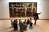 Dutch children at the museum in dordrecht.