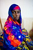 sick patient at MSF hospital in central african republic.
