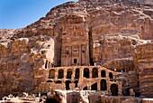 Royal Tombs, Petra, UNESCO Heritage Site, Jordan, Middle East.