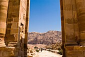 Temenos Gateway and Royal Tombs, Petra, UNESCO Heritage Site, Jordan, Middle East.