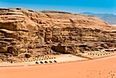 Wadi Rum, Tented camp, Jordan, Middle East.