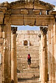 Tha Cathedral, Jerash, Gerasa Roman Decapolis City, Jordan, Middle East.