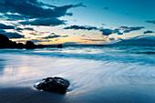 Hawaii, Maui, Makena, Twilight At Black Sand Beach