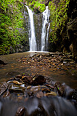 Hawaii, Maui, Waterfall Near Lush Waihe'e Valley