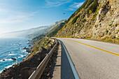 California, Big Sur, Coastal Shot Of Highway 1