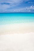 Beautiful White Sand Beach Seascape.