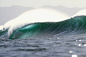 Hawaii, Oahu, North Shore, Beautiful Empty Wave At Pipeline, Afternoon Light.