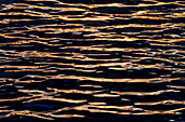 Hawaii, Big Island, Abstract View Of Colorful Reflections On Calm Water.