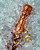 Bottle Of Champagne In Ice