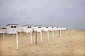 Bathing Huts For Rent North Sea, Belgium.