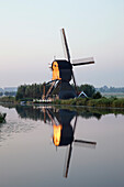 Windmill Next To Irrigation Canal, Holland.