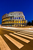 Exterior View Of The Coliseum Amphitheatre, Rome, Italy