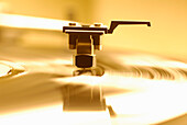 Close Up Of Record Player