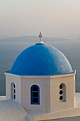 Rooftop Of A Building In The Village Of Oia, Santorini, Greece