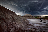 Storm Clouds Over The Badlands Of Dinosaur Provincial Park In Alberta