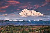 North Face Of Denali At Sunset As Seen From The Wonder Lake Campground In Denali National Park, Alaska
