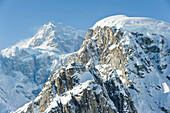 Aerial View Of The East Face Of Mt. Mckinley As Seen From Ruth Glacier Amphitheater, Alaska Range, Denali National Park And Preserve, Interior Alaska, Spring
