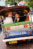 Tourists On Tuk Tuk. Bangkok, Thailand