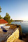 'White house terrace; Palmizana, Sveti Klement, Croatia'