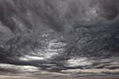 'Interesting clouds proceed a severe thunderstorm; Saskatchewan, Canada'