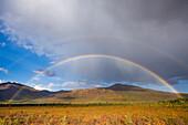 Double rainbow over the Brooks Range, Arctic Alaska.