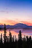 Mount Blackburn at sunrise, Wrangell mountains, Wrangell St. Elias National Park and Preserve, Southcentral Alaska.
