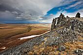Puvakrat mountain ridge along the Etivluk river, Arctic National Petroleum Reserve, Alaska.