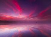 'Sunrise explodes over Echo Lake in Aroostook State Park; Presque Isle, Maine, United States of America'