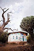 'Traditional style Northern Ethiopian church with ornate painted walls; Ethiopia'