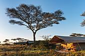 'Luxury mobile tented camp, Serengeti National Park; Tanzania'