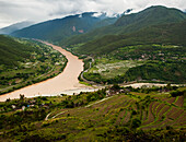 'Where two rivers meet; Yunnan Province, China'