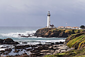 'Pigeon Point Lighthouse along California Route 1 near Pescadero; California, United States of America'