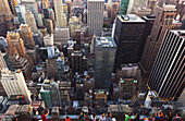'View of Midtown Manhattan from the Top of the Rock Observation Tower at the Rockefeller Center; New York City, New York, United States of America'