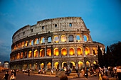 'The Roman Coliseum during a warm spring sunset; Rome, Italy'