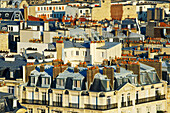 'Residential buildings and chimneys on the rooftops; Paris, France'