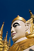 Myanmar (Burma), Yangon (Rangoon), Shwedagon Paya, a nat (or spirit) statue