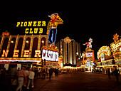 Nevada, Las Vegas, Illuminated Downtown Casinos, 1995