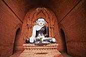 'Buddha statue at Bagan pagodas, Upper Burma; Myanmar'