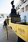 'A horse and carriage outside Falaknuma Palace; Hyderabad, Andhra Pradesh, India'