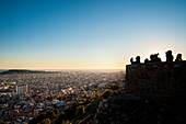 'View of the city of Barcelona from Turo de la Rovira; Barcelona, Catalonia, Spain'