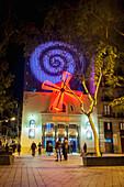 'El Molino theatre and burlesque in Parallel; Barcelona, Catalonia, Spain'