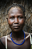 'Portrait of a young Nuer woman, Western Ethiopia; Ethiopia'