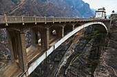 'Arch span bridge over Tiger Leaping Gorge; Lijiang, Yunnan Province, China'