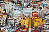 'Aerial view of an old spanish cathedral; Guanajuato, Mexico'