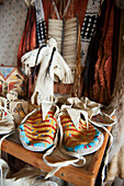 'Native American traditional clothing including shoes; Rossburn, Manitoba, Canada'